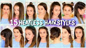 hairstyles quick and easy to do m 15 heatless hairstyles easy and quick lovevie youtube