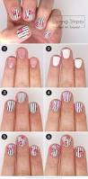 in bloom floral and stripes nail art more com
