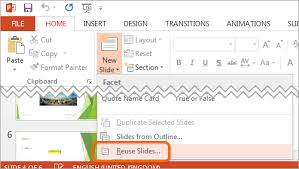 how to import slides from another presentation powerpoint tips