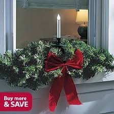Christmas Decorations Candle In Window by Outdoor Led Christmas Window Candle And Swag Single Single