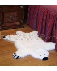 kids white polar bear sheepskin fur rug fursource com