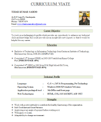 Sample Resume Formats For Freshers by Sample Resume For Freshers Awesome One Page Resume Sample For