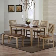 Dining Room Furniture With Bench Rectangle Dining Table With Bench Foter