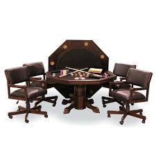signature combination game table set with 4 chairs