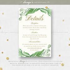 garden wedding invitations greenery green leaves wedding invitation set eucalyptus leaf