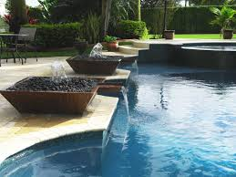 Container Water Garden Fountain Minimalist Modern Outside Wall Water Fountain And Rock Garden Plus