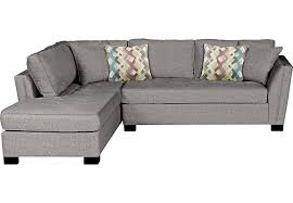 Rooms To Go Sleeper Loveseat Cindy Crawford Home Calvin Heights Gray 2 Pc Sectional