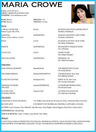 Acting Resume Template Free Download Actor Resume Resume For Your Job Application