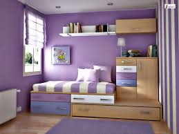 small bedroom colors and designs with cute purple wall painting