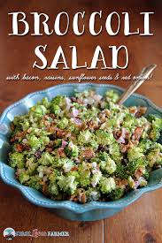 bacon sunflower seeds broccoli salad recipe broccoli salads sunflower seeds and tangier