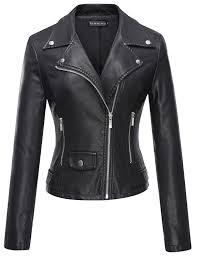 ladies leather biker boots tanming women u0027s faux leather moto biker short coat jacket at