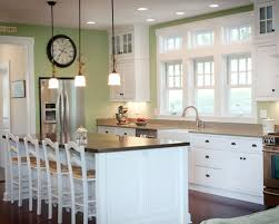 Green And White Kitchen Cabinets Green Walls White Cabinets Houzz