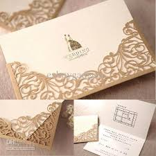 wedding invitations gold high quality gold lace cut out wedding invitations party wedding