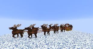 build reindeer u0026 santa u0027s sleigh minecraft