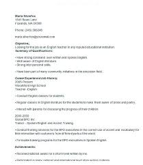 Resume Spelling Accent Good Teacher Resume Examples Daycare Resume Samples Objective