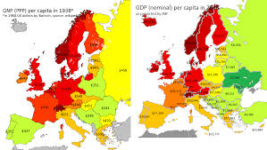 Czechoslovakia Flag 1938 Gdp Per Capita In Europe 1938 Vs 2016 Europe