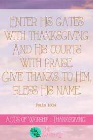 acts of worship thanksgiving live nourished