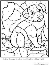color numbers worksheets dog coloring pages printable