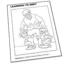 it pays to obey coloring page super church