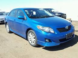 2010 toyota corolla s blue 2010 toyota corolla s for sale co denver salvage cars
