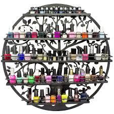 acrylic nail polish organizer wall display rack fit 90 to 126