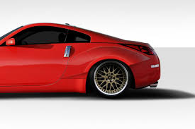 nissan 350z used india duraflex 90mm circuit rear fender flares 2 pc for nissan 350z 03 08 ed