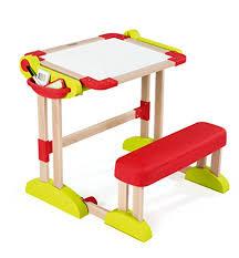 bureau enfant pliant smoby 028112 loisirs créatifs bureau modulo space