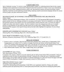 Resumes For Marketing Jobs by Sample Marketing Resume Template 6 Free Documents Download In