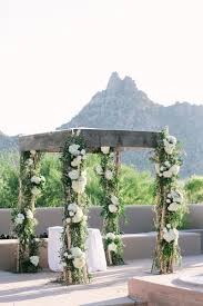 wedding chuppah ceremony décor photos rustic wedding chuppah with mountain view