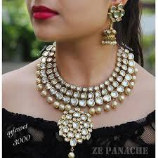 white stones necklace set images White stone necklace set wedding bridal necklace rahul jewel jpg