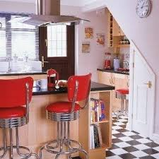 Red Kitchen Table And Chairs Red Retro Bar Stools Foter