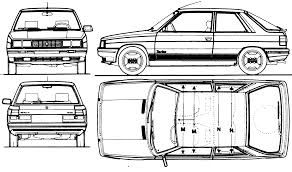 1984 renault 11 turbo hatchback blueprints free outlines