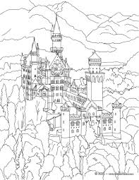 neuschwanstein castle coloring pages hellokids com