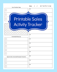 Daily Planners Templates Sales Activity Tracker Daily Planner Cold Call Tracker Template