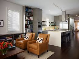 open concept kitchen living room small space home combo
