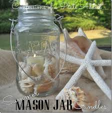 Mason Jar Candle Ideas 40 Easy Beach Craft Ideas To Make This Summer