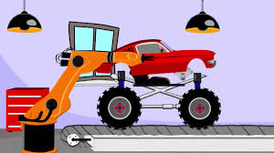 monster truck videos games monster mustang monster truck video game 3d for kid cartoons