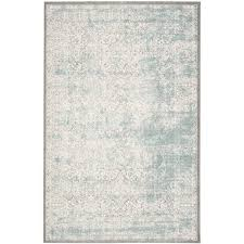 Turquoise And Gray Area Rug One Allium Way Auguste Turquoise Ivory Area Rug U0026 Reviews