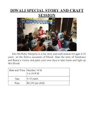 diwali special story and craft session kids stop press