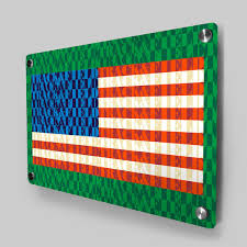 American Flag Words Track And Field Metal Wall Art Panel American Flag Words