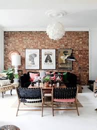 livingroom wall ideas astounding brick feature wall ideas images best inspiration home