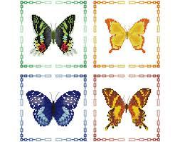 butterflies cross stitch pattern butterfly counted cross stitch
