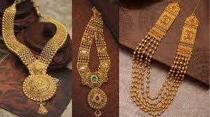 gold haram sets gold haram necklace set designs bridal jewellery
