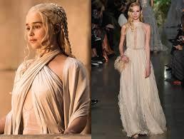 khaleesi costume of thrones and khaleesi s fashion influence on the runways