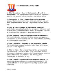 Role Of Cabinet Members The Roles Of The President
