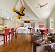 kids game room family room eclectic with vaulted ceiling vaulted