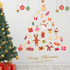 diy christmas tree wall mural decals merry christmas festival wall