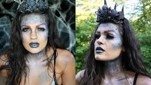 dark glittery mermaid halloween makeup collab with jessica