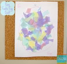 easter egg craft torn tissue paper fspdt