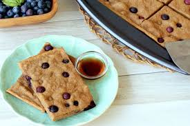 blueberry pancake healthy make ahead breakfast recipe blueberry pancake bars hungry